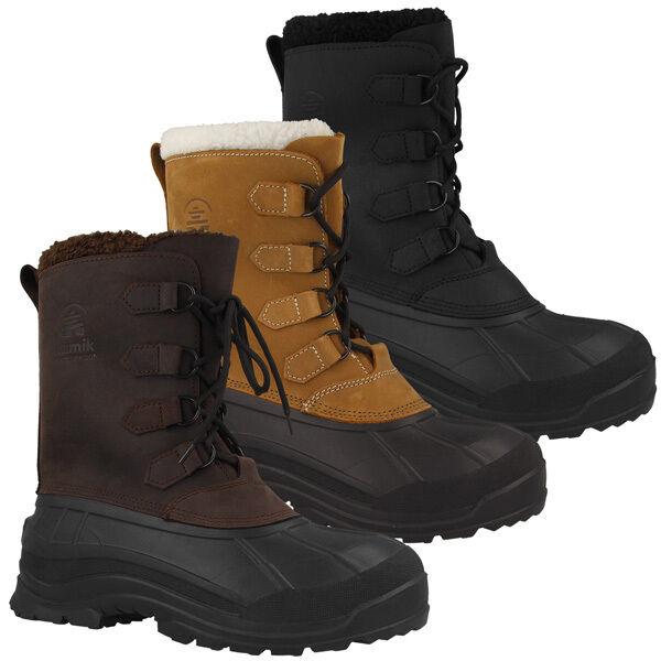 Kamik Alborg Uomo Winter invernali Boots Lacci Scarpe Stivali Stivali invernali Winter wk0011 c79d2f