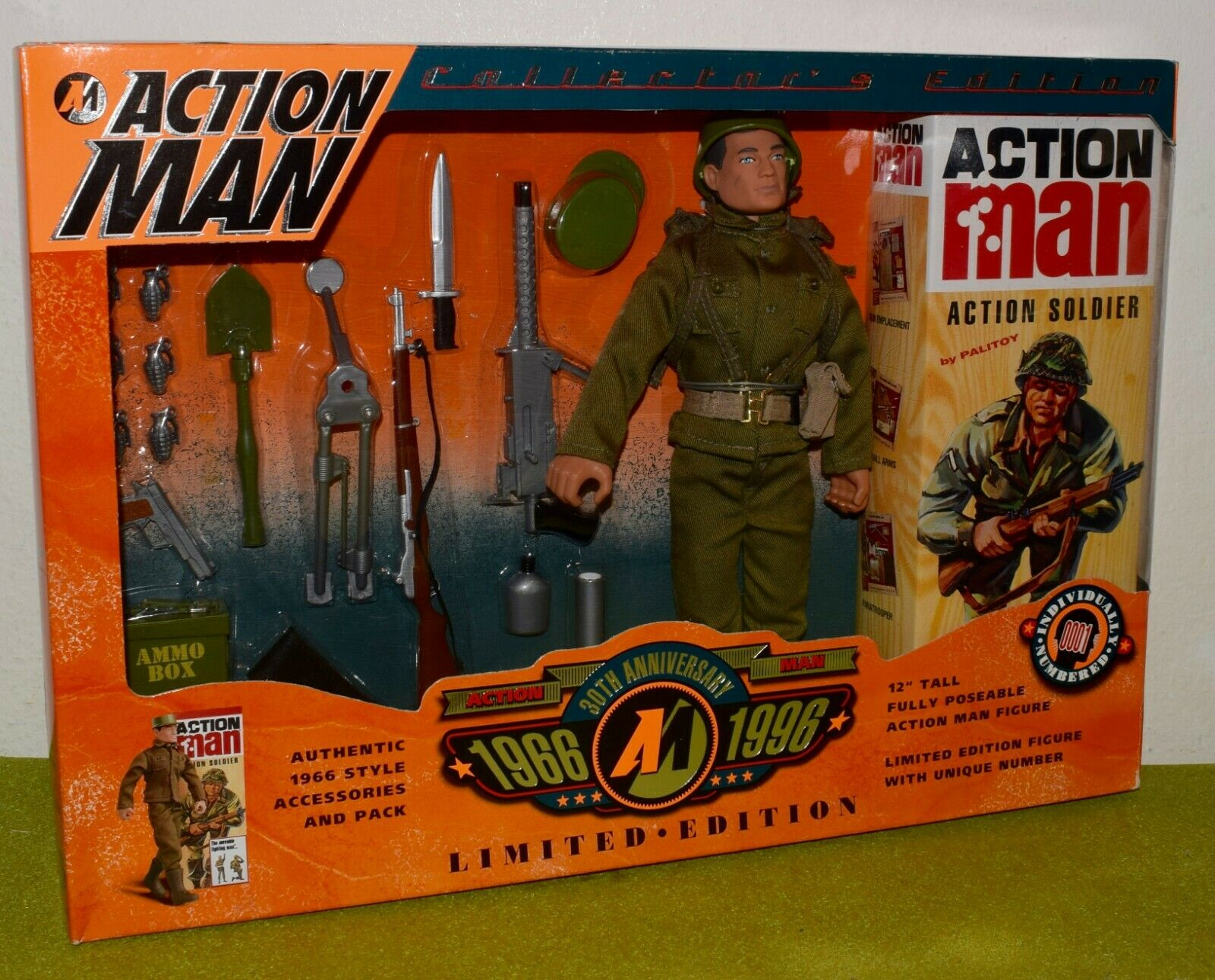 HASBRO ACTION MAN 30th ANNIVERSARY ACTION SOLDIER SOLDIER SOLDIER 1966-1996 1a5134