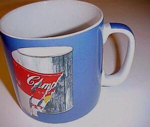 Andy Warhol Blue Jumbo Coffee Cup Mug Campbell\'s Soup Block Art ...