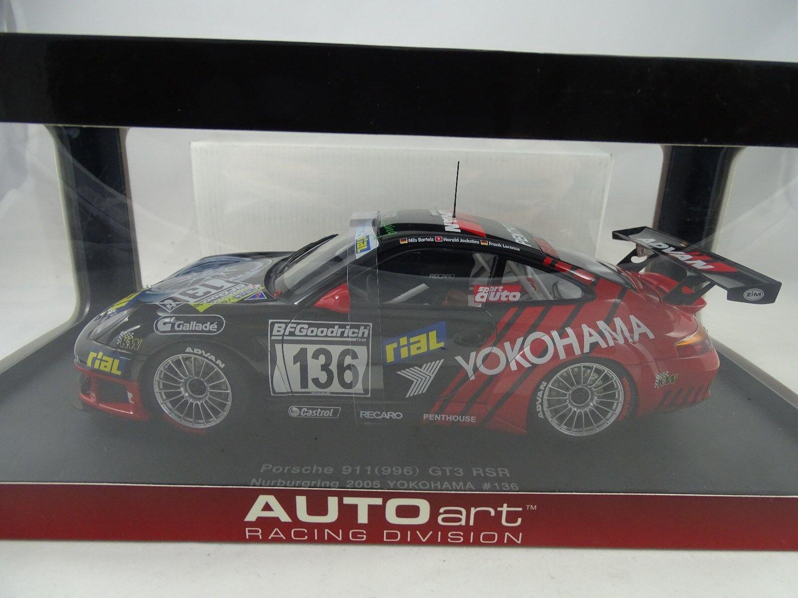 promociones emocionantes 1 1 1 18 Autoart 80571 Porsche 911 (996) Gt3 Rsr Nurburgring 2005  136  marca de lujo