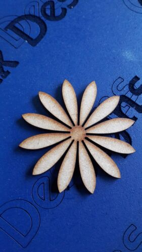 Wooden Mdf Flower DAISY shapes Embellishment craft Blank various sizes CFE1