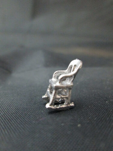 Dollhouse Miniature Unfinished Metal 144th Scale Small Rocking Chair