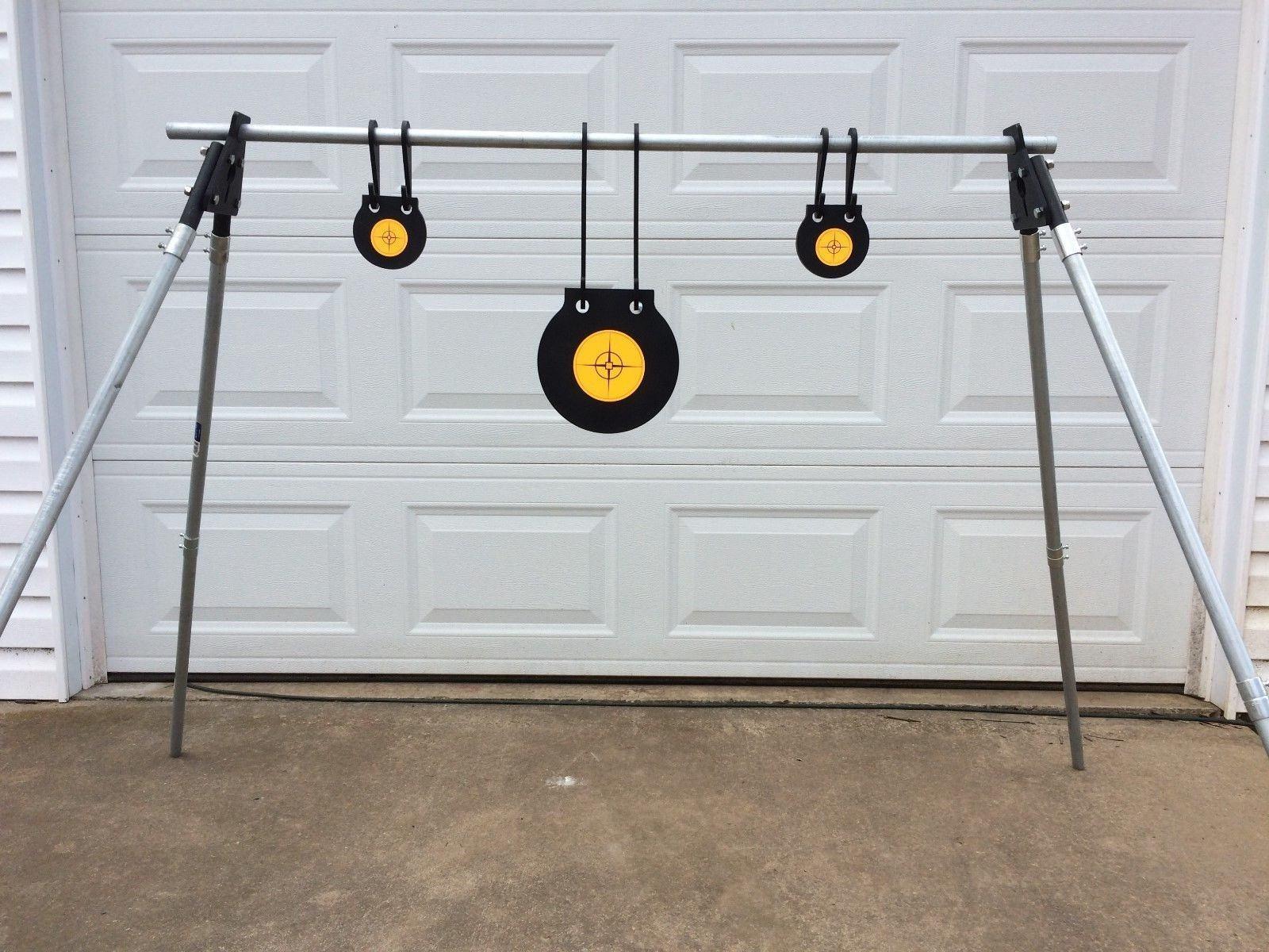AR500 Acier Shooting Target Kit-Support Parenthèses, (1) 8  (2) 4  Gongs, (6) Crochets