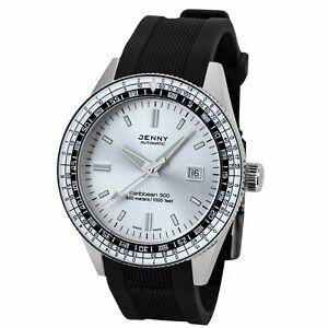 Jenny-5003-10-021-20-Men-039-s-Caribbean-Silver-Automatic-Watch