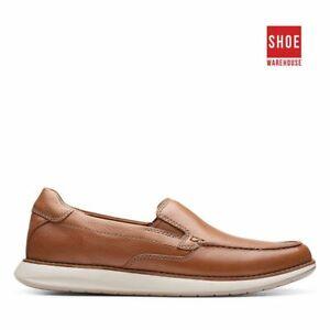 Clarks UN PILOT STEP Brown Mens Slip-on Fashion Leather Shoes