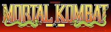 Mortal Kombat Arcade Marquee For Reproduction Midway Header/Backlit Sign