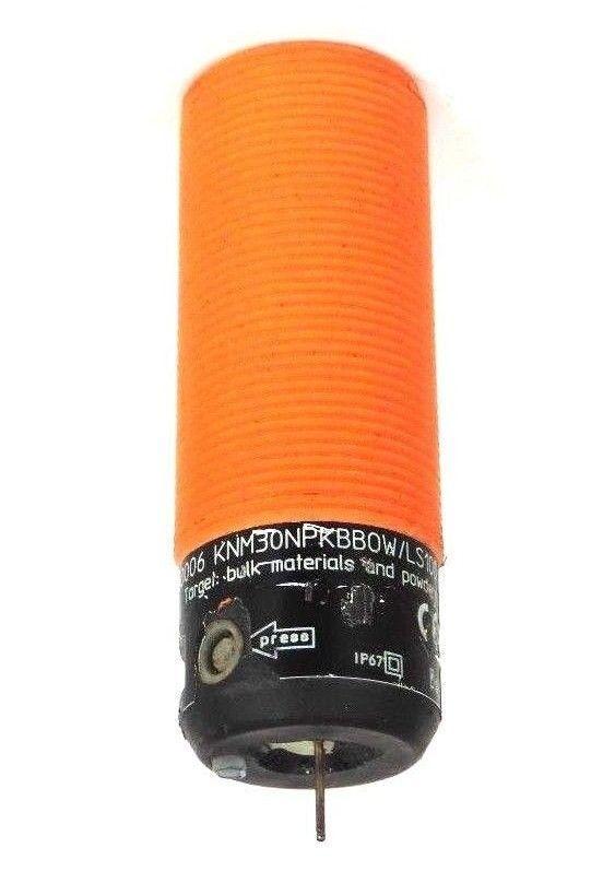 IFM EFECTOR KNM30NPKBBOW LS100 LEVEL SENSOR KN0006 250VAC 47-63HZ BROKEN TIP