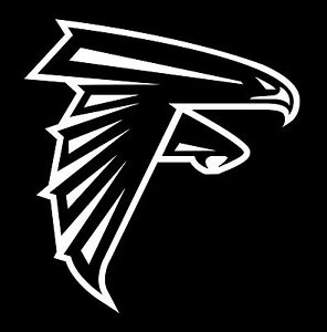 atlanta falcons vinyl decal sticker 4 tall you get a pair in any color ebay. Black Bedroom Furniture Sets. Home Design Ideas