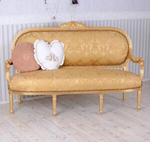 Dettagli su DIVANO Stile Barocco Rococò Stile Oro Panca DIVANO- mostra il  titolo originale
