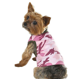 NEW-Size-XS-Pink-Camo-Tank-T-Shirt-Dog-Clothes-Casual-Canine
