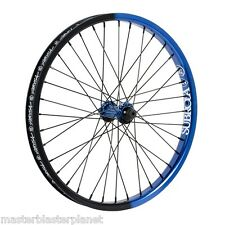 """SUBROSA TURBO FRONT 20"""" WHEEL COMPLETE BMX BIKE BICYCLE SHADOW BLUE BLACK FADE"""