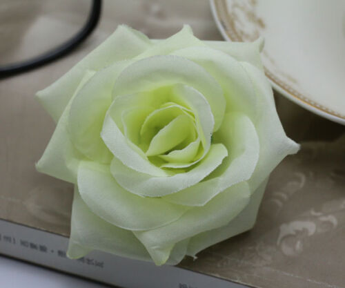 20 pcs 8cm  Artificial white Rose simulation flowers silk flower heads wholesale