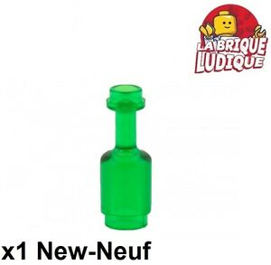 Lego-1x-Minifig-Utensil-Bottle-Bottle-Green-Trans-Green-95228-New
