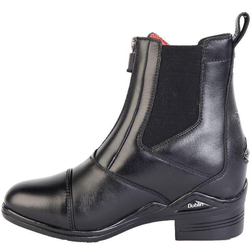 Intensidad de Dublín Corto botas de Montar-Negro  rojoucido    RRP