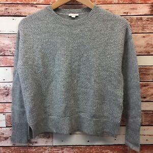 Gap-Women-s-Gray-Crewneck-Sweater-Size-XSmall