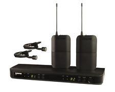 NEW Shure UHF BLX188/CVL Dual CH. Bodypack Lavalier Wireless Microphone System