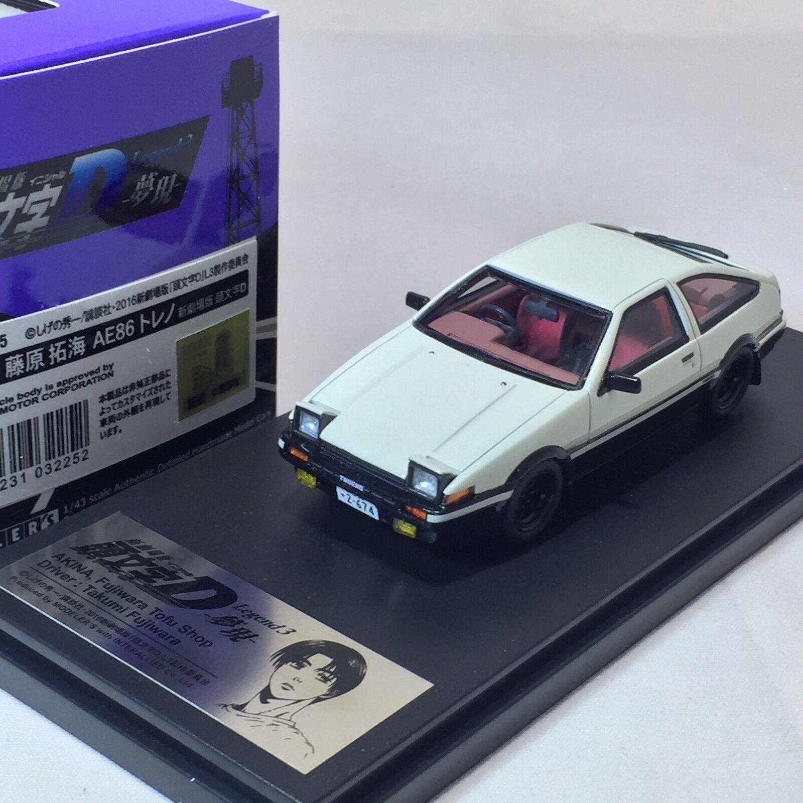 mejor calidad 1 43 43 43 Hi-Story Modeler's Jugueteota AE86 fujiwara tofu Shop leyenda 3 Initial D  ordene ahora los precios más bajos