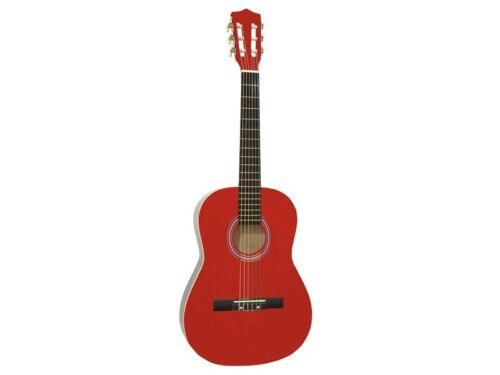 DIMAVERY AC-303 Klassik-Gitarre 3//4 rot