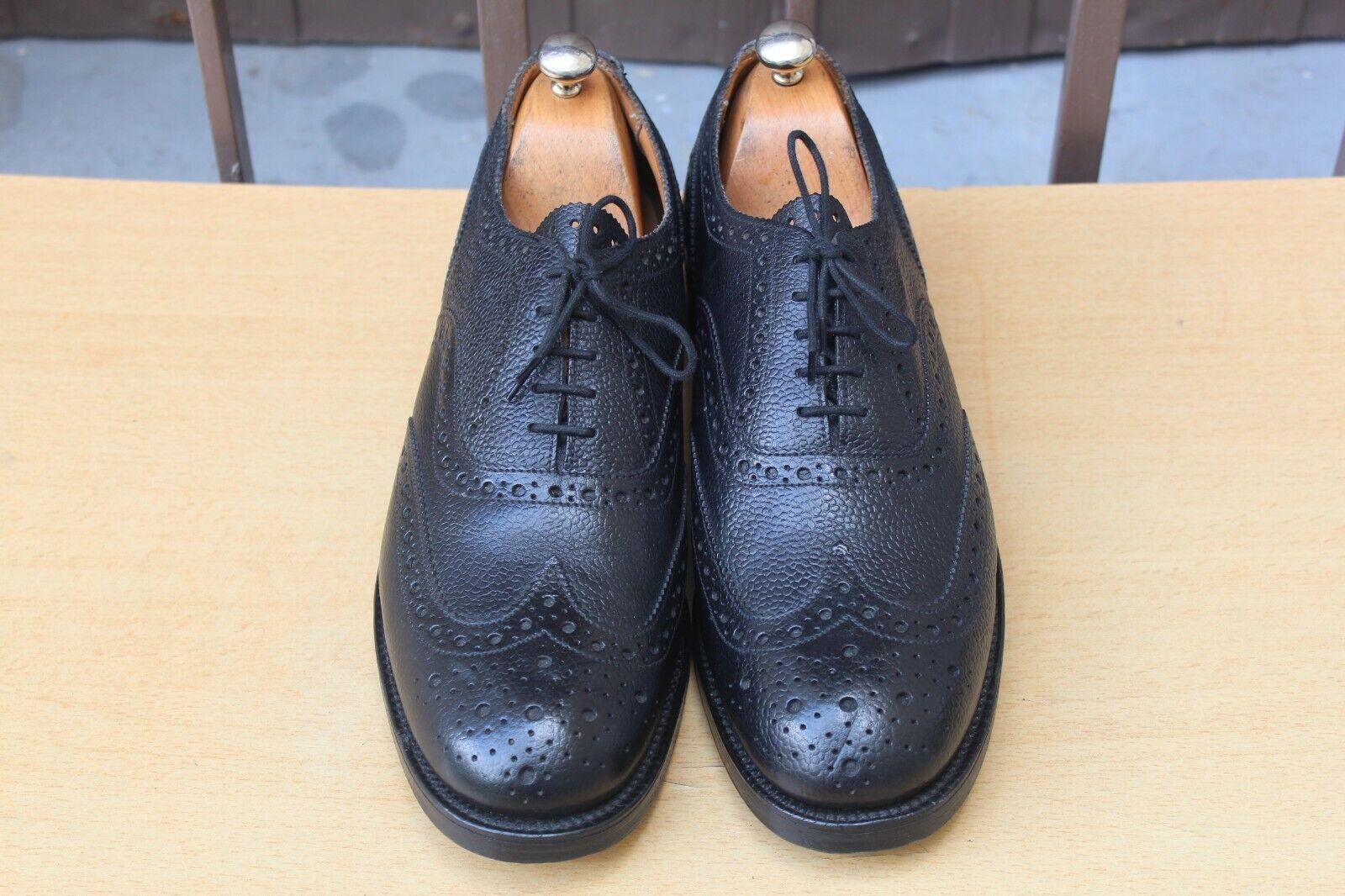 zapatos SANDERS RICHELIEU CUIR GRAINE 10   44 hombres zapatos 349 EUROS