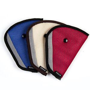 Children Kids Triangle Nylon Mesh Comfort Car Seat Belt Holder Safety Strap clip