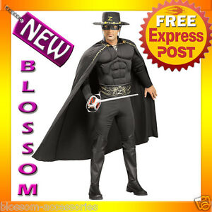 Men's Deluxe Zorro Muscle Chest Costume