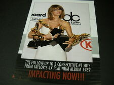 TAYLOR SWIFT armful of awards PROMO POSTER AD in mint condition