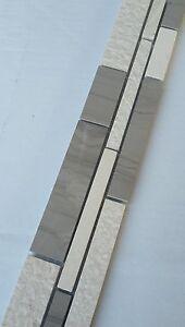 Das Bild Wird Geladen Mosaik Borduere Marmor Naturstein Fliesen Yawood Grau  Beige