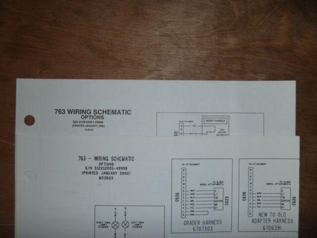 Bobcat 763 Skid Steer Electrical Wiring Diagram Schematic