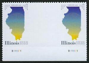 #5274 Illinois Statehood, Vertical Gutter Par [3] Nuevo Cualquier 5=