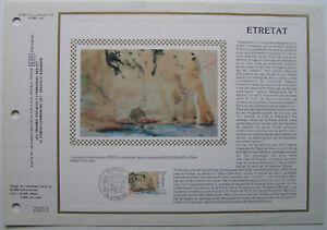 EUGENE-DELACROIX-Feuillet-CEF-Timbre-1er-jour-SOIE-1987