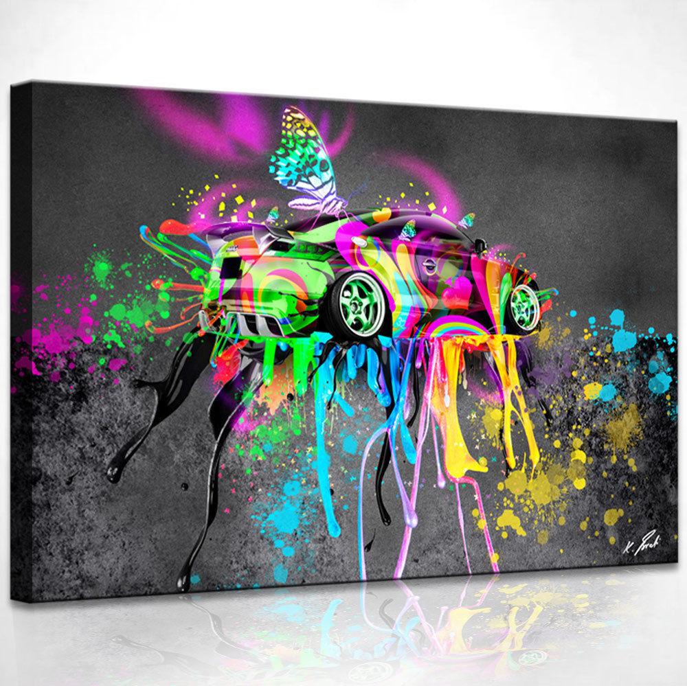 Peintures murales voiture voiture de sport COLOREE Image sur sur sur toile Abstraite Art Images d0689 facf4c