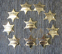 24 Metal Toy Sheriff Badges West Cowboy Silver Sheriff's Badge Party Favors