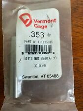 New Listingvermont Gage 353 Pin Gage Qty1 Brand New