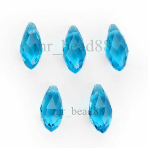 6x12mm 100pcs Clear Teardrop Glass Crystal Spacer Beads Crafts Jewelry Findings