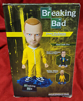 "Breaking Bad Jesse Pinkman Bobblehead Bobble TV Show Action Figure Mezco 6/"" Saul"
