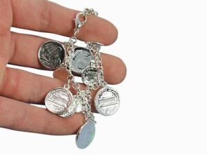 euro coin charm bracelet