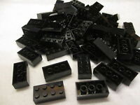 Lego Bulk Lot Of 100 2x4 Black Bricks