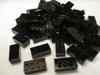 Lego Bulk Lot Of 100 2x4 Black Bricks