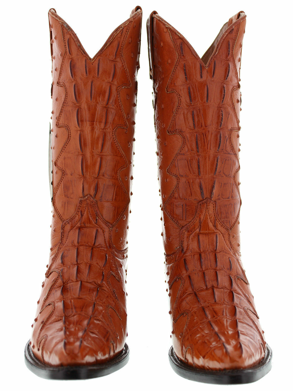Mens Original Crocodile Ostrich Full Leather Western Rodeo Rodeo Rodeo Stiefel Cognac J Toe f22186