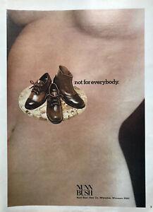 1972 Woman nude torso Nunn Bush mens shoes vintage photo