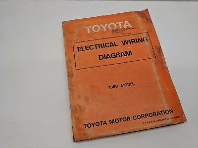 1980 Toyota OEM Factory Electrical Wiring Diagrams Shop ...