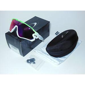 New Oakley Jawbreaker Sunglasses Green Fade Prizm Road Cycling White ... c40005098c