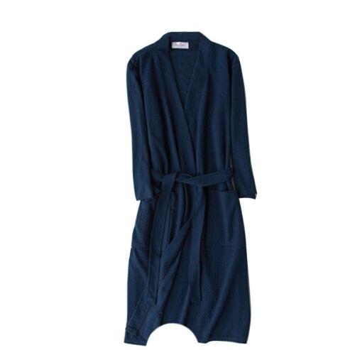 2018 Women Men Cotton Blend Long Night-Robe Sleepwear Bathrobe Spa Shower Robes