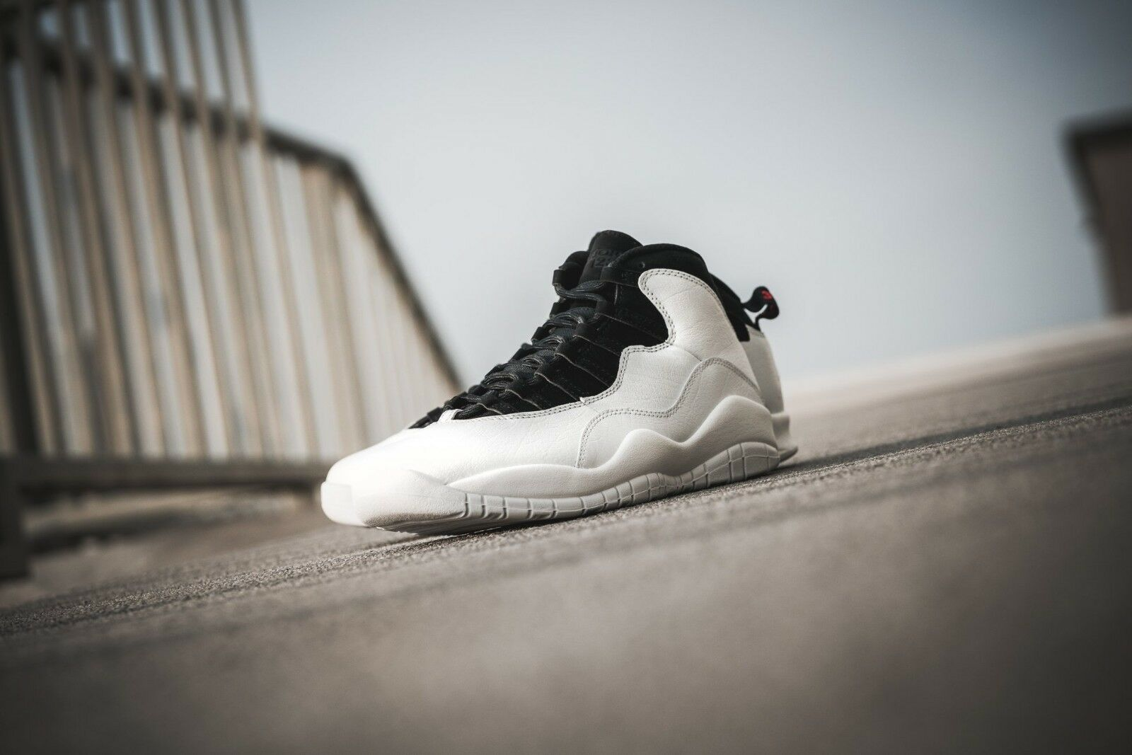 Nike air jordan 10 retrò vertice white-summit white sz [310805-104]