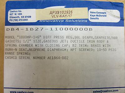 """Actief Cashco 100hp-1+6"""" Pressure Regulator Db4-1b27-11000000b"""