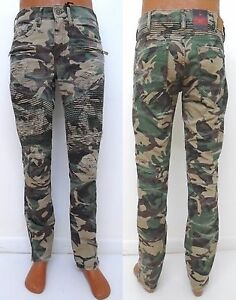 bedc0fc20c9727 Men JORDAN CRAIG Green Woodland Camo shredded moto biker pants style ...