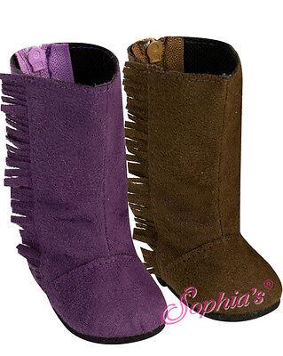 NIP-cute purple mock suede fringed boots by Sophia/'s fit American Girl
