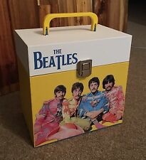 "The Beatles - wooden 7"" Record Box/Case 45's Mono Test Pressing Promo"
