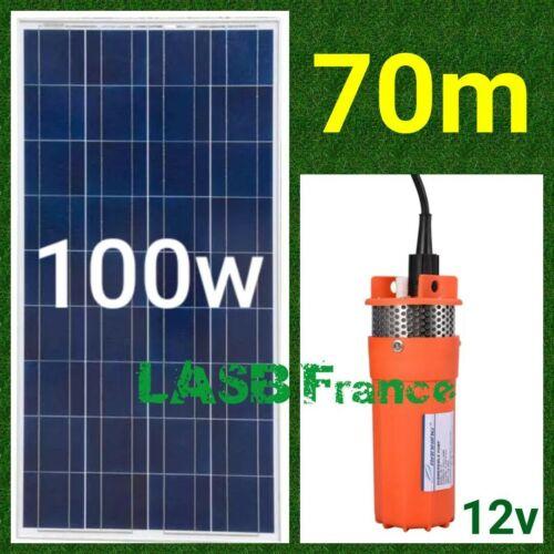 with Photovoltaic Panel 100w 70m Depth 229.65 feet Solar Irrigation Pump Kit