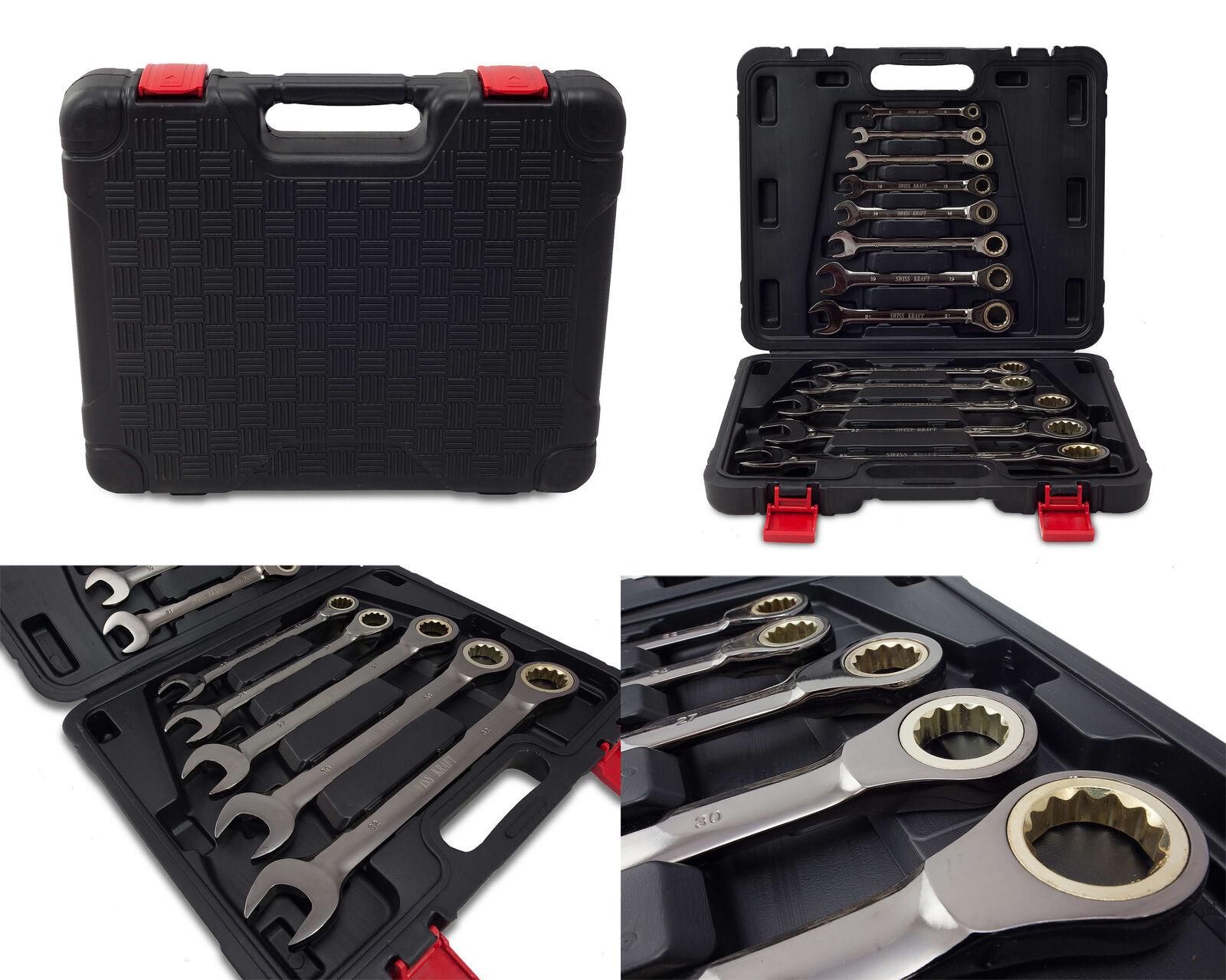 Ratschenschlüssel Ring Maul Ratsche Schlüssel Satz 8-32mm Werkzeug Set